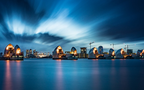 Thames Barrier in London wallpapers